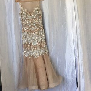 TERANI COUTURE STONES EVENING GOWN